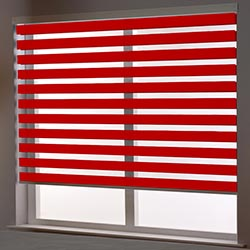 Zebra Roller Blind in Binale Red