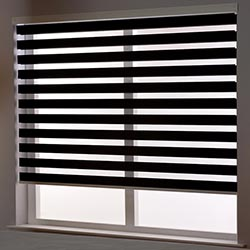 Zebra Roller Blind in Binale Black