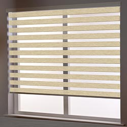 Zebra Roller Blind in Madera Birch
