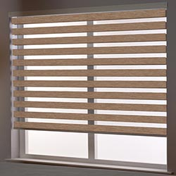 Zebra Roller Blind in Pinta Light Brown