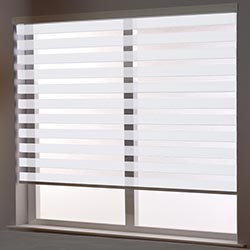 Zebra Roller Blind in Aroso White