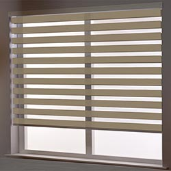 Zebra Roller Blind in Aroso Light Brown