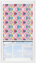 Main display image for BlocOut™ product with Rainbow Sketch Blackout fabric