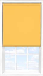 Main display image for Roller Blind product with Saffron Blackout fabric