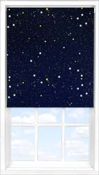 Main display image for Roller Blind product with Night Sky Blackout fabric