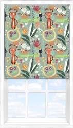 Main display image for Roller Blind product with Jungle Friends Blackout fabric