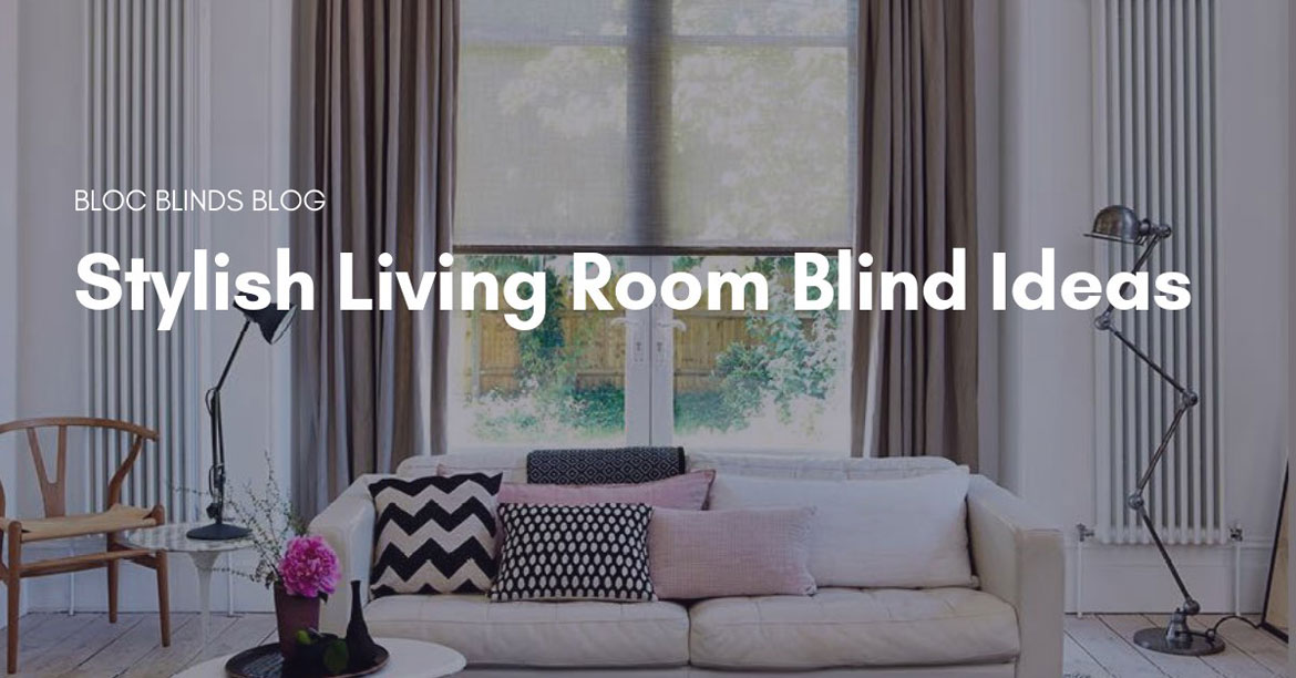 stylish living room blind ideas