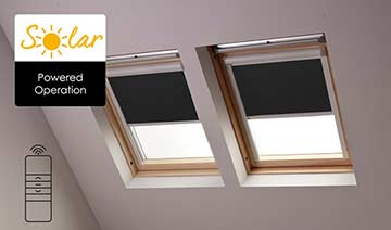 Solar-powered blinds for Fakro skylights