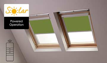 Solar-powered blinds for Velux skylights