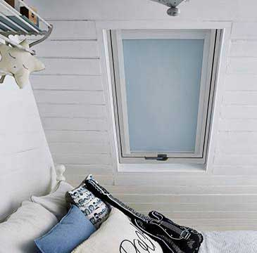 Remote controlled motorised skylight blinds for VELUX™