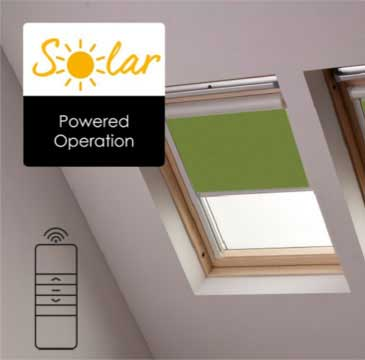 Browse our range of solar-powered motorised blinds