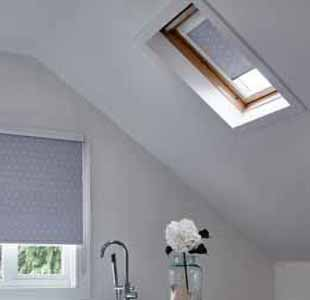 Custom fit blackout blinds for skylights