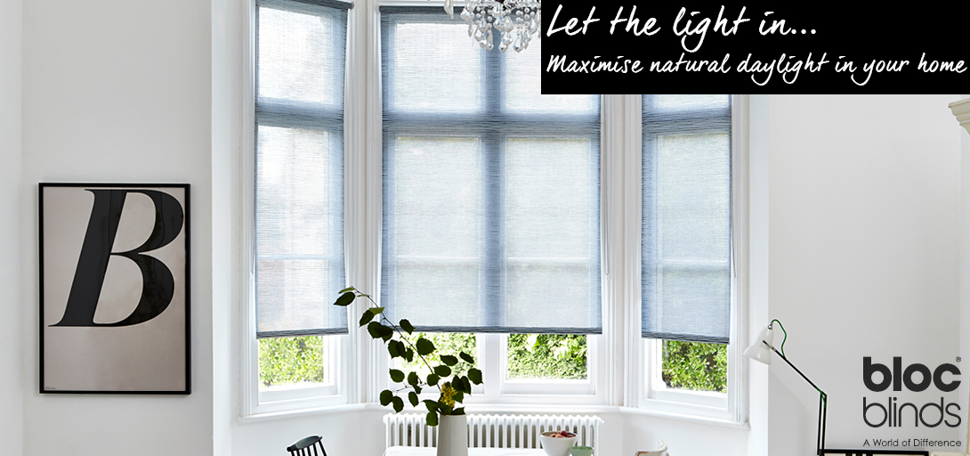 Maximise natural daylight in your home with light filtering blinds.