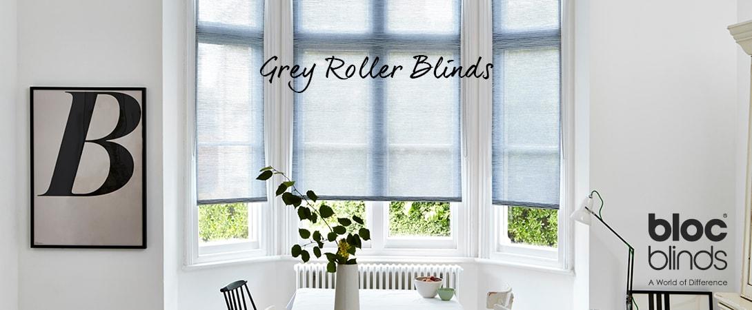 Grey Roller Blinds MADE TO MEASURE ORDER ONLINE